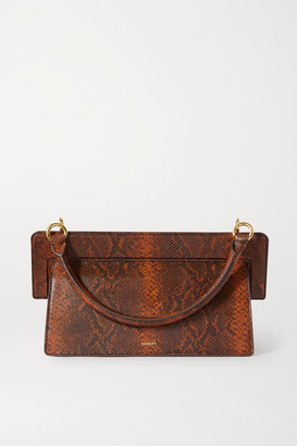 Yuzefi Ada Snake-effect Leather Tote - Brown