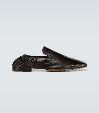 Bottega Veneta Squared toe leather loafers