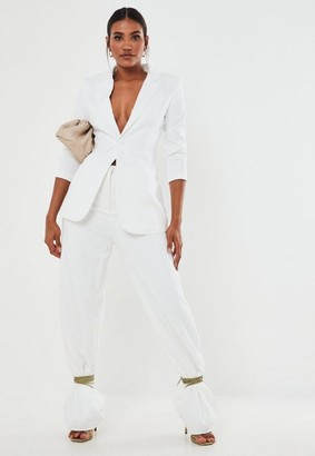 Missguided Tall White Co Ord Classic Slim Fit Blazer