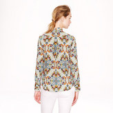 J.Crew Collection secretary blouse in misty fog floral