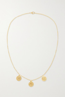 Foundrae Triple Coin 18-karat Gold Necklace