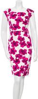 Milly Floral Print Sheath Dress