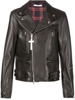 Givenchy classic biker jacket - men - Cotton/Calf Leather - 50