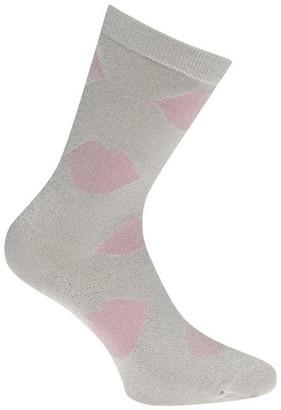 Lulu Guinness Lulu Lurex Lip Ankle Socks