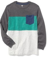 Old Navy Color-Blocked Crew-Neck Tee for Boys