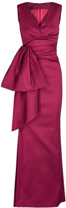 Talbot Runhof Bosworth1 Burgundy Stretch-gazar Gown