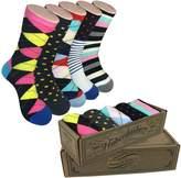 Modern Motif Men's Socks - Mens Dress Socks Colorful - Fun Funky Happy Color Gifts for Men