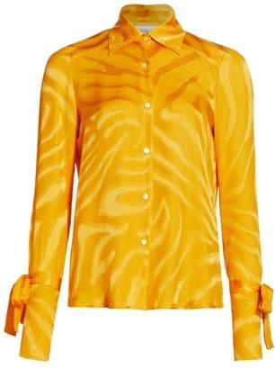 Adriana Iglesias Tina Silk Jacquard Shirt