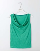 Boden Linen Sleeveless Cowl Neck