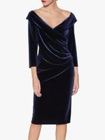 Gina Bacconi Bridget Velvet Midi Dress