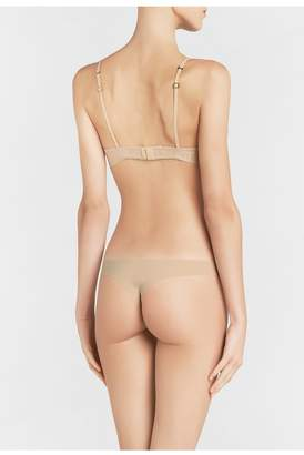 La Perla Second Skin Latte-Coloured Non-Wired Padded Triangle V-Bra