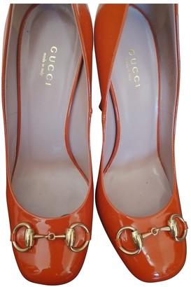 Gucci Orange Patent leather Heels