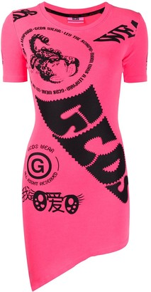 GCDS logo print T-shirt dress