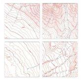 Brika Topographical Map Birchwood Coasters - Set of 4