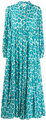 Diane von Furstenberg Kiara leopard-print maxi dress