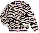 Kenzo Reversible Faux-Fur Zebra Print Jacket, Size 4-6