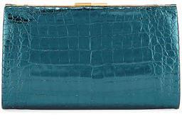 c2a660064e0d Nancy Gonzalez Colette Crocodile Slim Exposed-Frame Clutch Bag