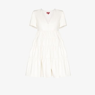 STAUD Mini Cocoon faux leather dress
