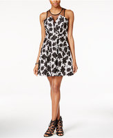 BCBGeneration Printed Illuison Fit & Flare Dress