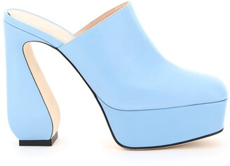 Sergio Rossi Platform Block-Heel Mules