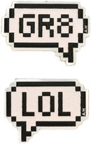 Anya Hindmarch speech bubble stickers