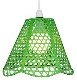 Lighting Web Company Scalloped French Cane Pyramid Shade, Green