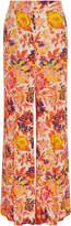 MSGM Jungle Floral-Print Straight-Leg Pants