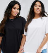 Asos Ultimate T-Shirt Easy With Curved Hem 2 Pack
