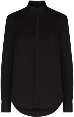 Wardrobe NYC Long-Sleeve Cotton Tuxedo Shirt