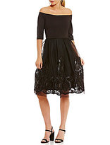 Gianni Bini Dana Off-the-Shoulder Embroidered Dress