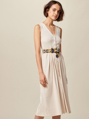 Sessun Keel Jersey Dress In Nude - XS