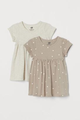 H&M 2-Pack Cotton Dresses