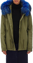 Mr and Mrs Italy Women's Fur-Trimmed Parka-DARK GREEN