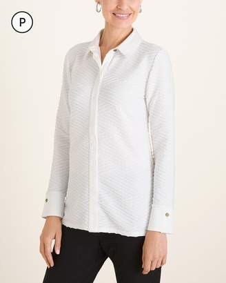 Chico's Chicos Petite Textured Knit Shirt