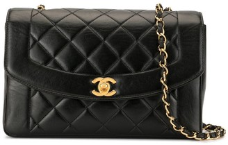 Chanel Pre Owned Diana chain shoulder bag