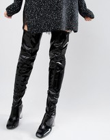Asos KALIDA Clear Heel Over The Knee Boots