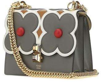 Fendi Kan I Flower-Embellished Small Shoulder Bag