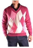 Ballantyne Men's Fuchsia Cotton Sweater.