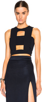 Cushnie et Ochs Power Stretch Viscose Cut Out Top