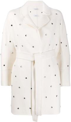 P.A.R.O.S.H. Belted Gem Embellished Coat