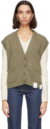 Gucci Green Wool Vest Cardigan