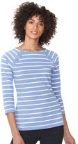 Chaps Women's Lace-Up Boatneck Tee