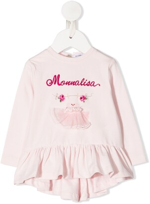 MonnaLisa Dress Applique Peplum Top