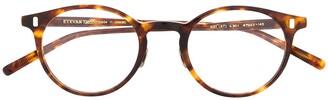 Eyevan 7285 Tortoiseshell Round Frame Glasses