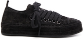 Ann Demeulemeester Suede Sneakers