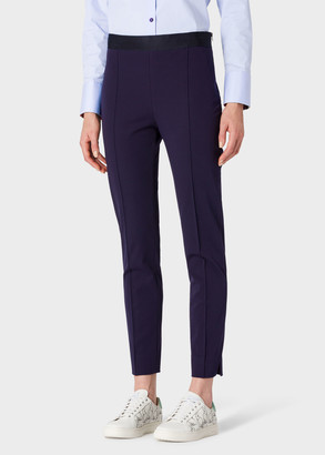 Paul Smith Women's Navy Stretch-Cotton Skinny-Fit Trousers