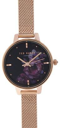 Ted Baker Mesh Dark Floral Watch