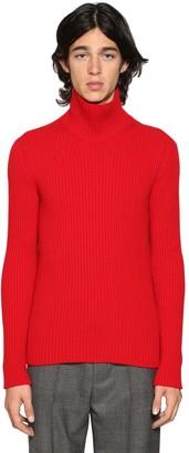 Balenciaga Cashmere Blend Rib Knit Turtleneck