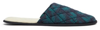 Desmond & Dempsey Byron Leaf-print Cotton Slippers - Green Multi