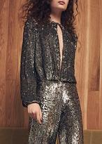 Alexis Liz Top Silver Sequin